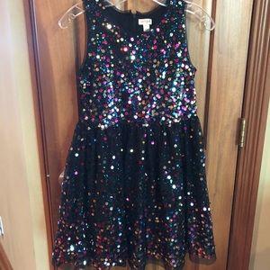 Cat & Jack Black sequin party dress size 10-12